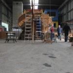 Pegasus tijdens restauratie