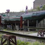 Pegasus wachtend op restauratie in het droogdok van het Scheepvaartmuseum Baasrode